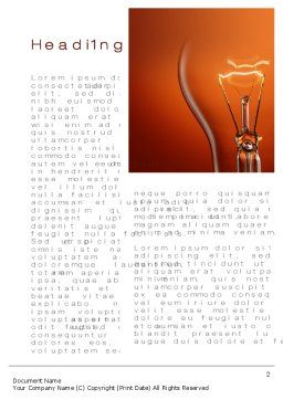 Incandescent Word Template, First Inner Page, 10498, Careers/Industry — PoweredTemplate.com