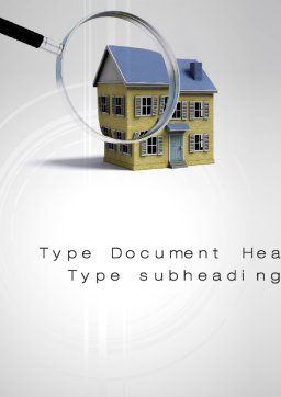 Property Search Word Template, Cover Page, 10499, Construction — PoweredTemplate.com