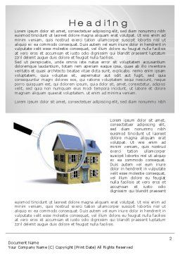 Property Search Word Template, First Inner Page, 10499, Construction — PoweredTemplate.com