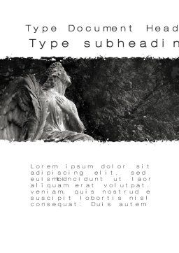 Angel Tombstone Word Template, Cover Page, 10501, Construction — PoweredTemplate.com