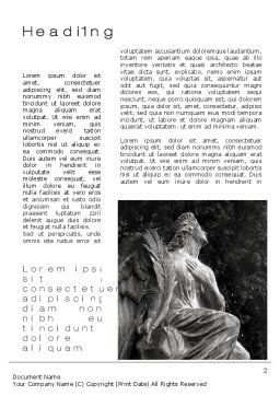 Angel Tombstone Word Template, First Inner Page, 10501, Construction — PoweredTemplate.com