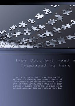 Lines of Puzzle Pieces Word Template, Cover Page, 10502, Consulting — PoweredTemplate.com