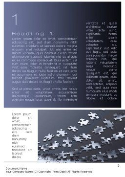 Lines of Puzzle Pieces Word Template, First Inner Page, 10502, Consulting — PoweredTemplate.com