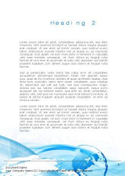 Blue Waves Globe Word Template Second Inner Page