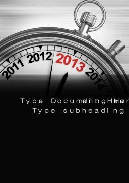 2013 Stopwatch Word Template, Cover Page, 10506, Business Concepts — PoweredTemplate.com