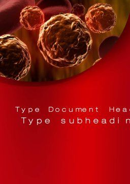 Inside the Circulatory System Word Template, Cover Page, 10509, Medical — PoweredTemplate.com
