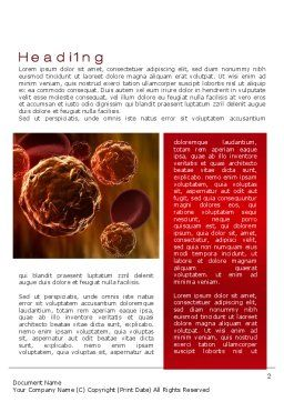 Inside the Circulatory System Word Template, First Inner Page, 10509, Medical — PoweredTemplate.com