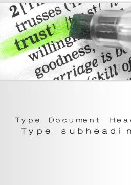 The Word Trust Word Template, Cover Page, 10511, Business Concepts — PoweredTemplate.com