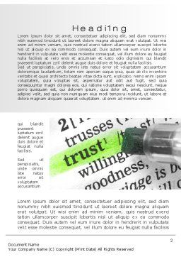 The Word Trust Word Template, First Inner Page, 10511, Business Concepts — PoweredTemplate.com
