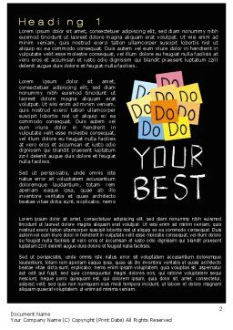 Do Your Best Word Template, First Inner Page, 10512, Education & Training — PoweredTemplate.com