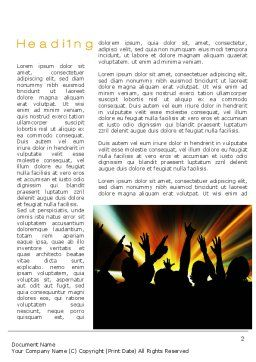 Concert Crowd Word Template, First Inner Page, 10515, Careers/Industry — PoweredTemplate.com