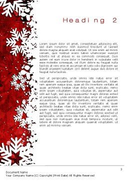 Snowflakes Frame Word Template, Second Inner Page, 10517, Holiday/Special Occasion — PoweredTemplate.com