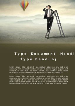 Business Opportunities Word Template, Cover Page, 10520, Business Concepts — PoweredTemplate.com