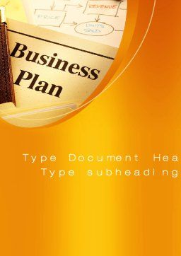 Business Plan Flowchart Word Template, Cover Page, 10522, Business — PoweredTemplate.com
