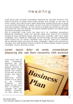 Business Plan Flowchart Word Template, First Inner Page, 10522, Business — PoweredTemplate.com