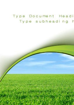 Horizon Word Template, Cover Page, 10523, Nature & Environment — PoweredTemplate.com