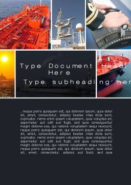 Tanker Word Template, Cover Page, 10530, Cars/Transportation — PoweredTemplate.com