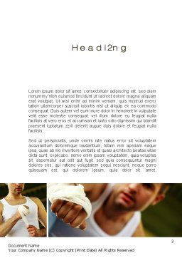 Fist Fighter Word Template, Second Inner Page, 10532, Sports — PoweredTemplate.com