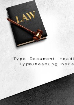 Law Book with Gavel Word Template, Cover Page, 10536, Legal — PoweredTemplate.com