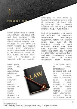 Law Book with Gavel Word Template, First Inner Page, 10536, Legal — PoweredTemplate.com