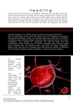 Platelet Word Template, First Inner Page, 10538, Medical — PoweredTemplate.com