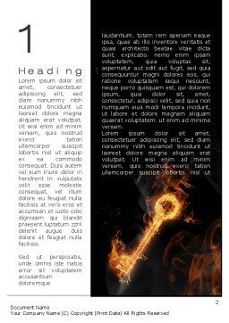 Fire Key Word Template, First Inner Page, 10539, Business Concepts — PoweredTemplate.com