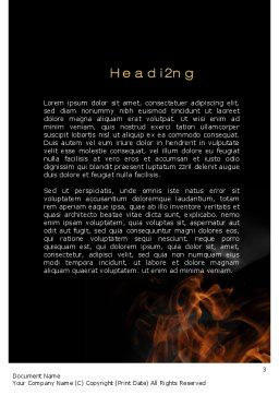 Fire Key Word Template, Second Inner Page, 10539, Business Concepts — PoweredTemplate.com