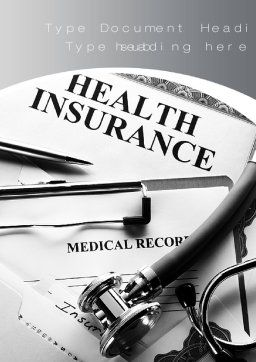 Health Care Insurance Word Template, Cover Page, 10542, Financial/Accounting — PoweredTemplate.com