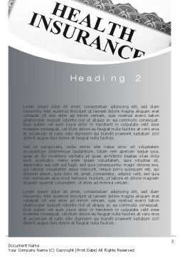 Health Care Insurance Word Template Second Inner Page