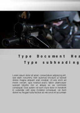 Commando Word Template, Cover Page, 10543, Military — PoweredTemplate.com