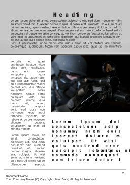 Commando Word Template, First Inner Page, 10543, Military — PoweredTemplate.com