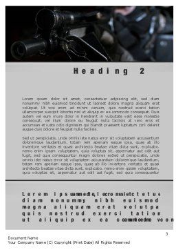 Commando Word Template, Second Inner Page, 10543, Military — PoweredTemplate.com