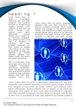 Social Network Concept Word Template, First Inner Page, 10544, Technology, Science & Computers — PoweredTemplate.com
