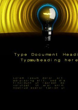 Incandescent Lighting Word Template, Cover Page, 10545, Business Concepts — PoweredTemplate.com