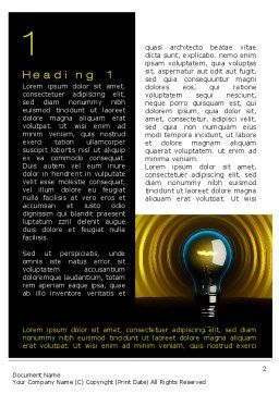 Incandescent Lighting Word Template, First Inner Page, 10545, Business Concepts — PoweredTemplate.com