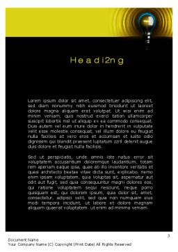 Incandescent Lighting Word Template, Second Inner Page, 10545, Business Concepts — PoweredTemplate.com