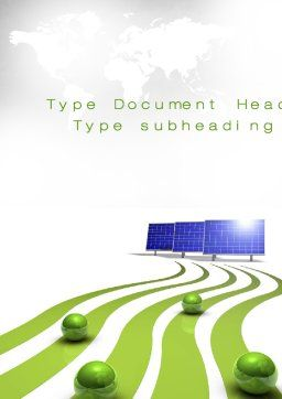 Green Energy Generation Word Template, Cover Page, 10548, Technology, Science & Computers — PoweredTemplate.com
