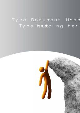 Over the Abyss Word Template, Cover Page, 10549, Consulting — PoweredTemplate.com