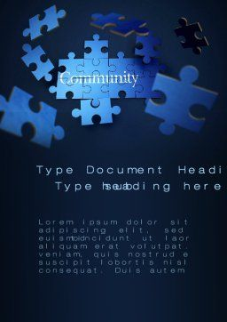 Building Community Word Template Cover Page