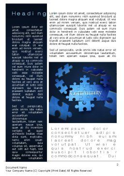 Building Community Word Template First Inner Page