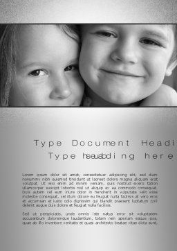 Brother Sister Love Word Template, Cover Page, 10555, People — PoweredTemplate.com