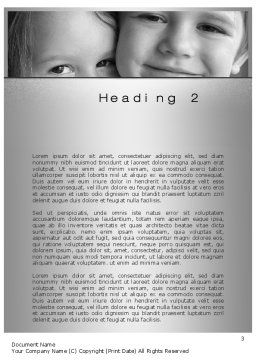 Brother Sister Love Word Template, Second Inner Page, 10555, People — PoweredTemplate.com