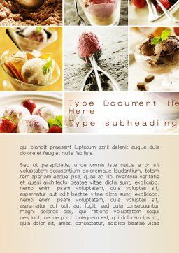 Refreshing and Yummy Word Template Cover Page