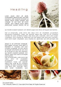 Refreshing and Yummy Word Template First Inner Page