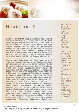 Refreshing and Yummy Word Template Second Inner Page