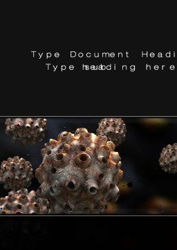 Virus Invasion Word Template, Cover Page, 10558, Medical — PoweredTemplate.com