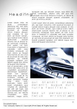 News and Media Word Template, First Inner Page, 10559, Careers/Industry — PoweredTemplate.com