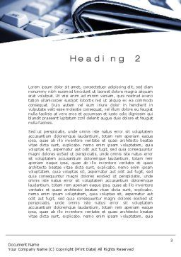 News and Media Word Template, Second Inner Page, 10559, Careers/Industry — PoweredTemplate.com