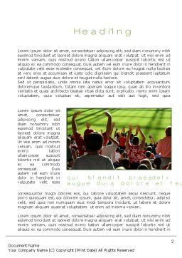 Football Fans Word Template, First Inner Page, 10560, People — PoweredTemplate.com