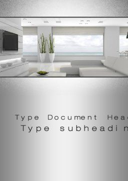 Airy Interior Word Template, Cover Page, 10564, Careers/Industry — PoweredTemplate.com